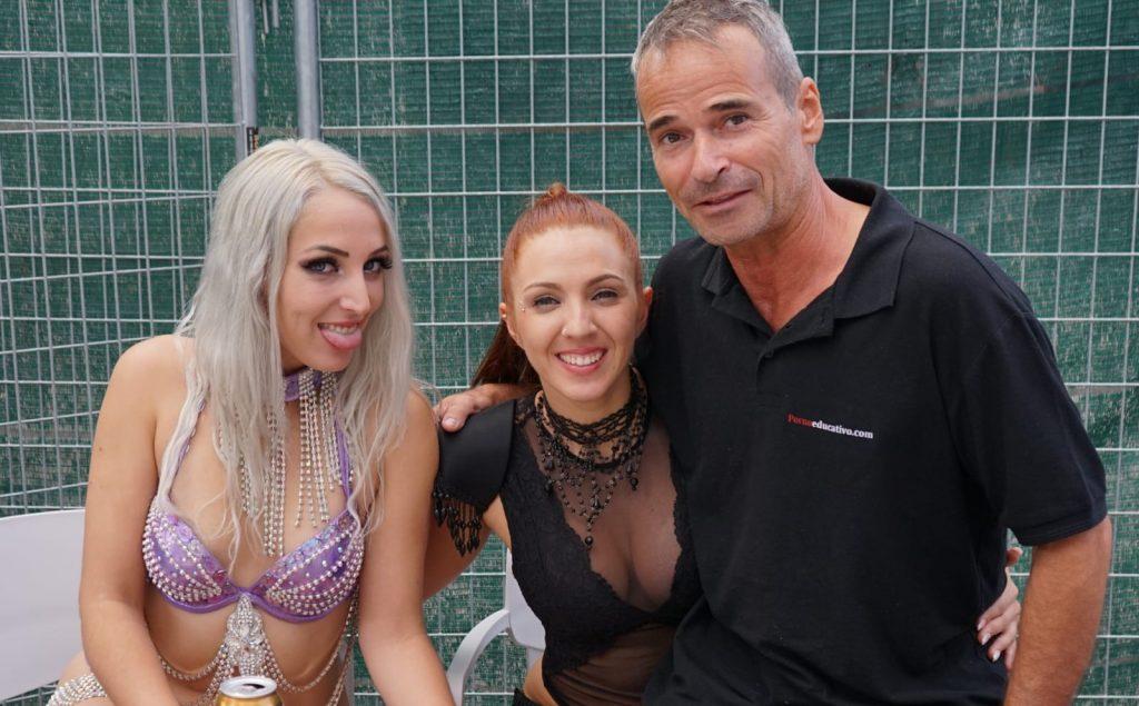 Jordi Oller, Pamela Sánchez, Liz Rainbow  Fotos del Salón Erótico de Barcelona