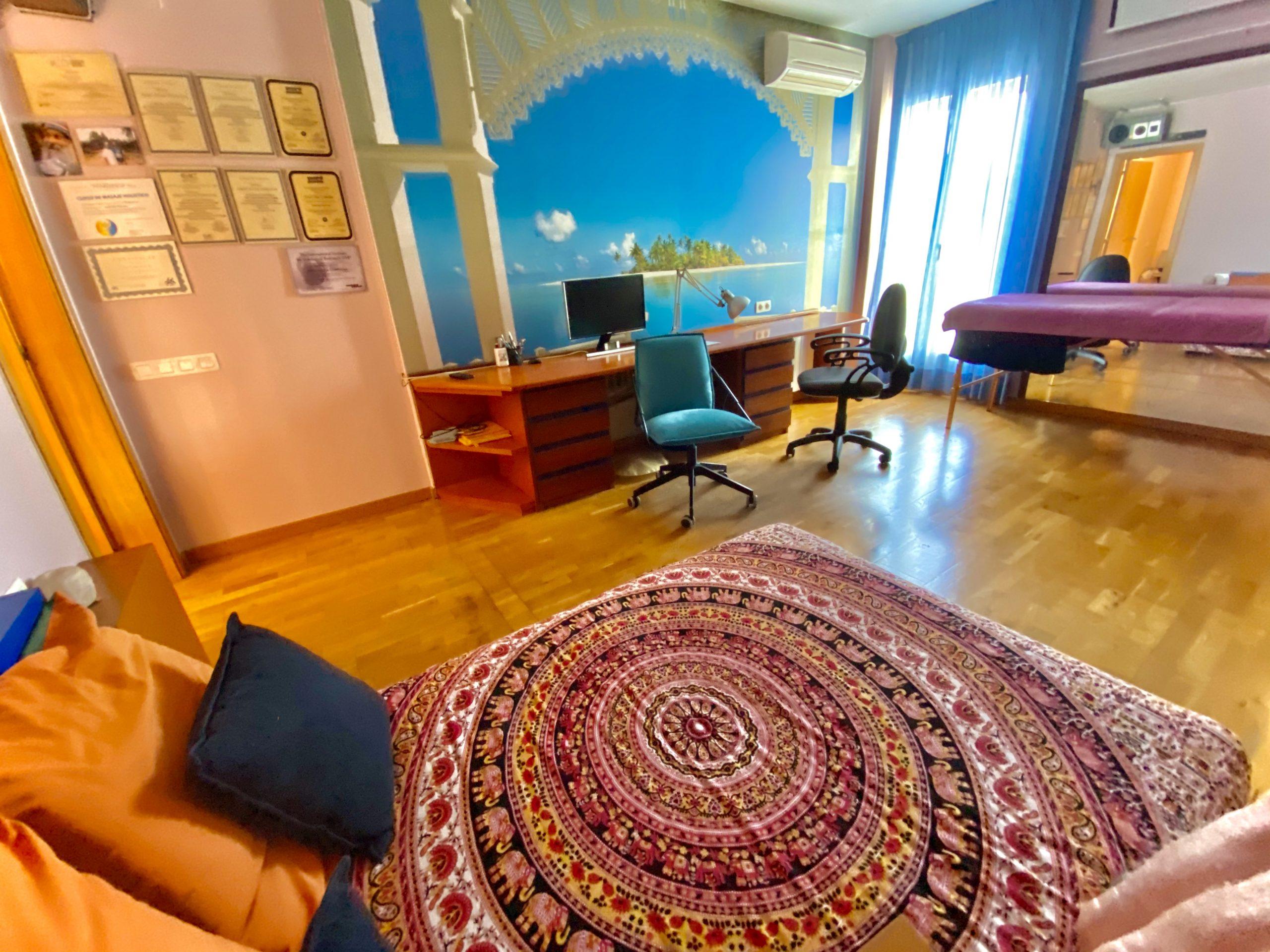 Sala para sesiones de sex coaching, tantra y trabajo corporal