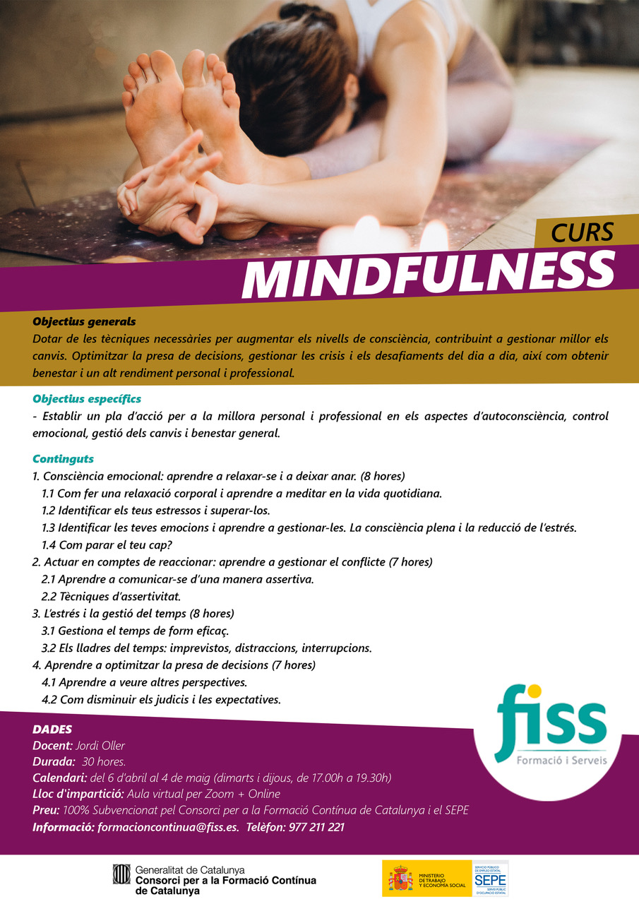 Curs Mindfulness Online Abril